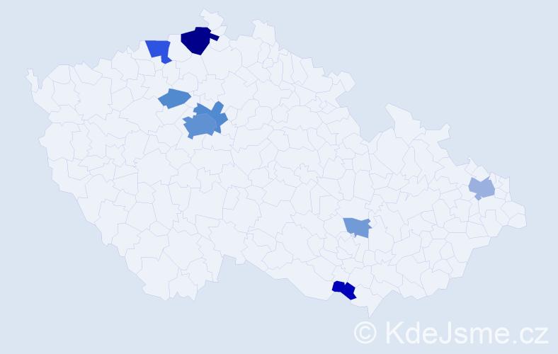 Příjmení: 'Issa', počet výskytů 29 v celé ČR