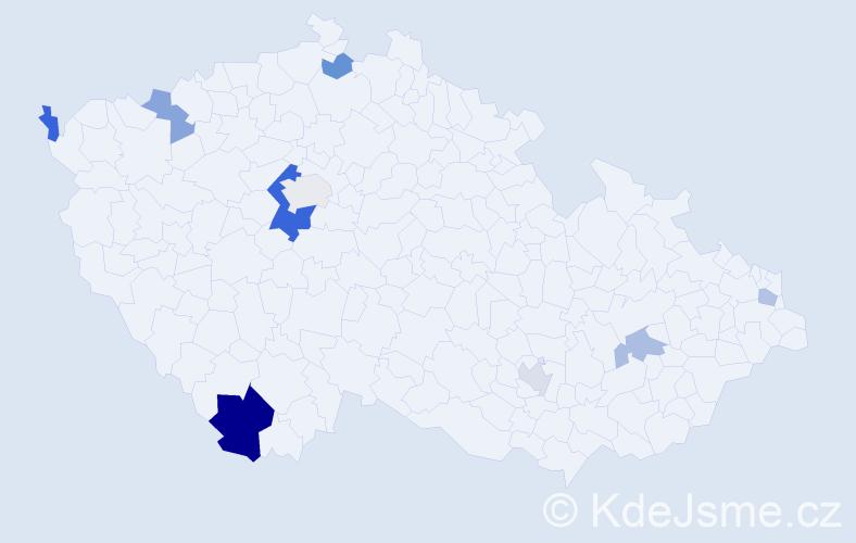 Příjmení: 'Janso', počet výskytů 16 v celé ČR