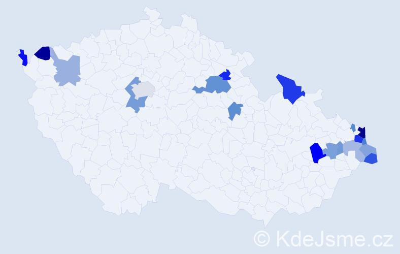Příjmení: 'Gawlowská', počet výskytů 32 v celé ČR