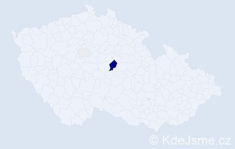 Příjmení: 'Eštók', počet výskytů 4 v celé ČR