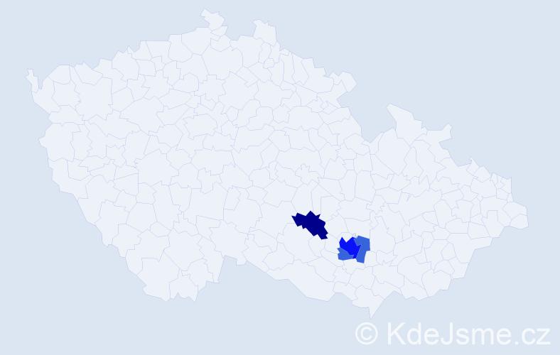 Příjmení: 'Gescheidt', počet výskytů 7 v celé ČR