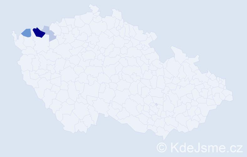 Příjmení: 'Leisová', počet výskytů 8 v celé ČR