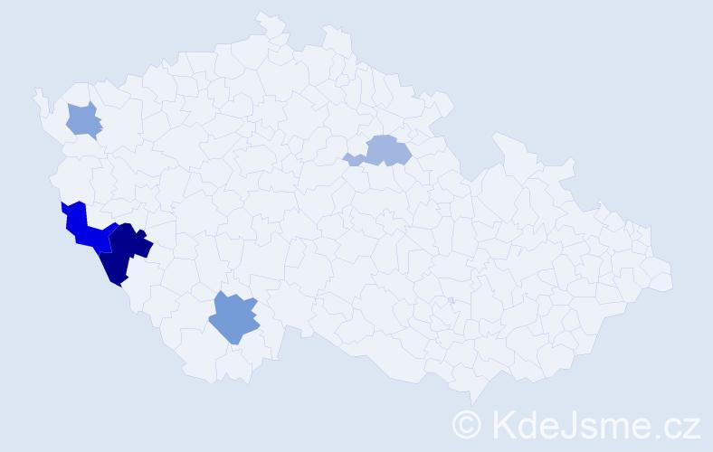 Příjmení: 'Braunfuchs', počet výskytů 9 v celé ČR
