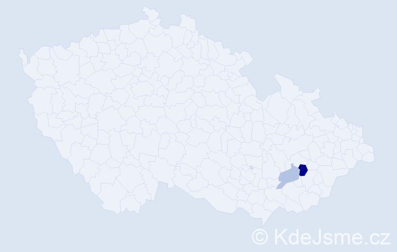 Příjmení: 'Bachner', počet výskytů 7 v celé ČR