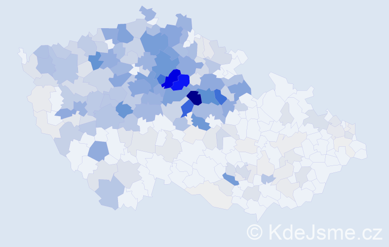 Příjmení: 'Krejčíková', počet výskytů 1423 v celé ČR