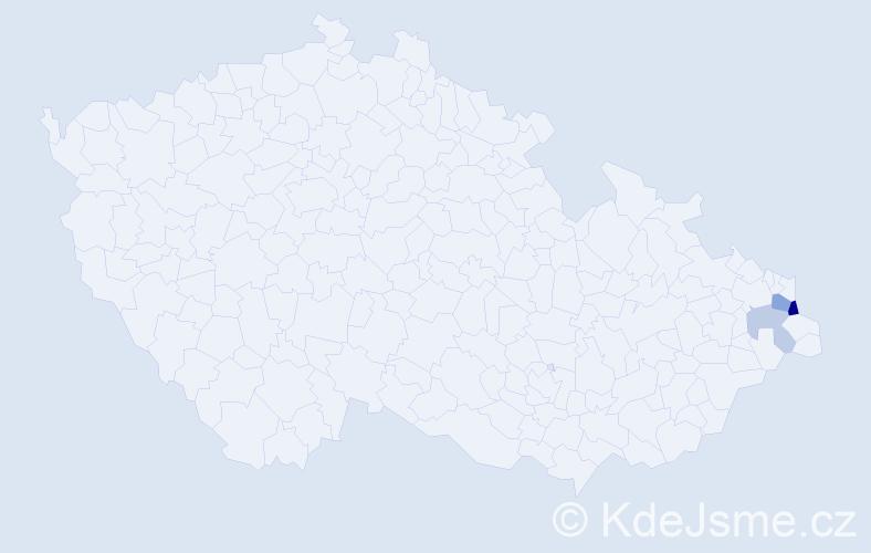 Příjmení: 'Italy', počet výskytů 6 v celé ČR