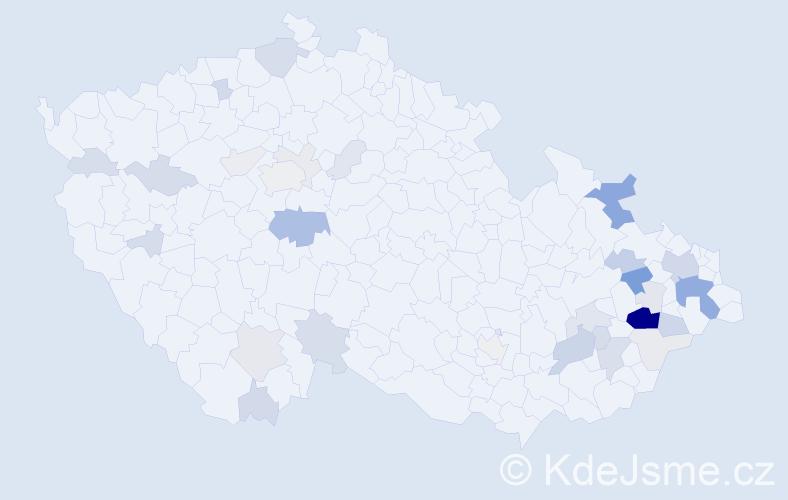 Příjmení: 'Žilinský', počet výskytů 109 v celé ČR