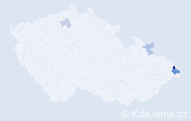 Příjmení: 'Cinkraut', počet výskytů 11 v celé ČR