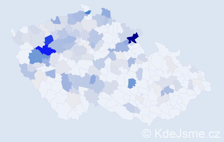 Příjmení: 'Hubková', počet výskytů 499 v celé ČR