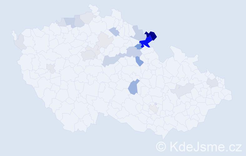 Příjmení: 'Lamka', počet výskytů 88 v celé ČR