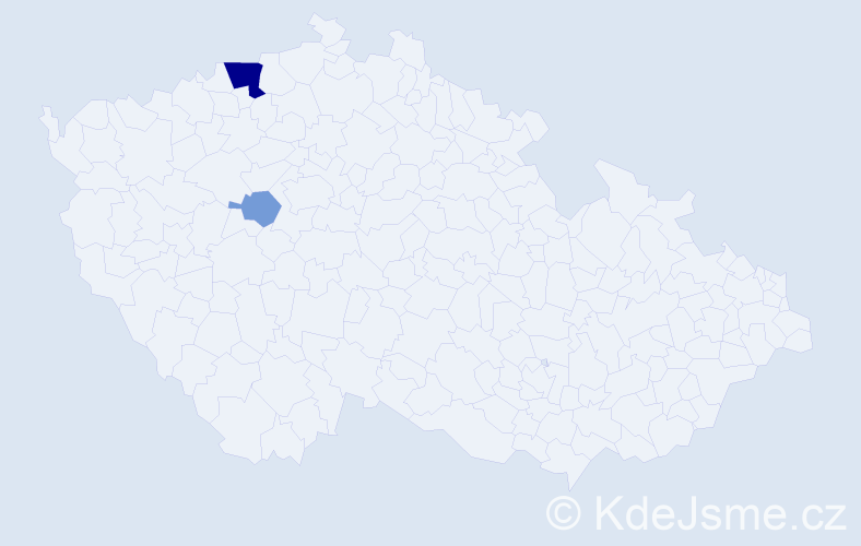 Příjmení: 'Gühl', počet výskytů 6 v celé ČR