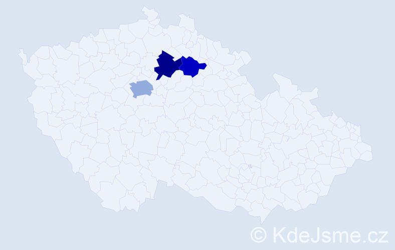 Příjmení: 'Heilková', počet výskytů 6 v celé ČR