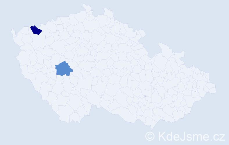 Příjmení: 'Kamenčuk', počet výskytů 2 v celé ČR