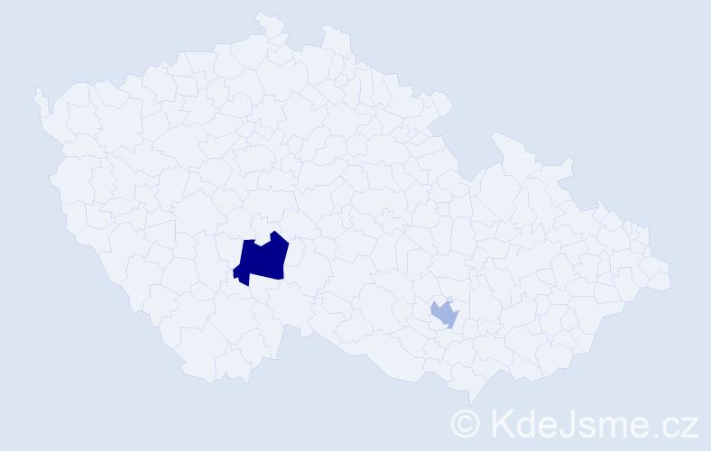 Příjmení: 'Daubková', počet výskytů 3 v celé ČR