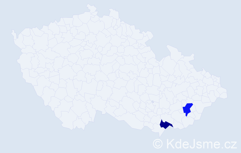 Příjmení: 'Futiakiewiczová', počet výskytů 2 v celé ČR