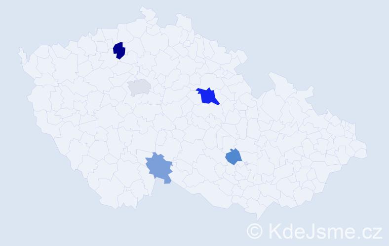 Příjmení: 'Konstantinov', počet výskytů 11 v celé ČR