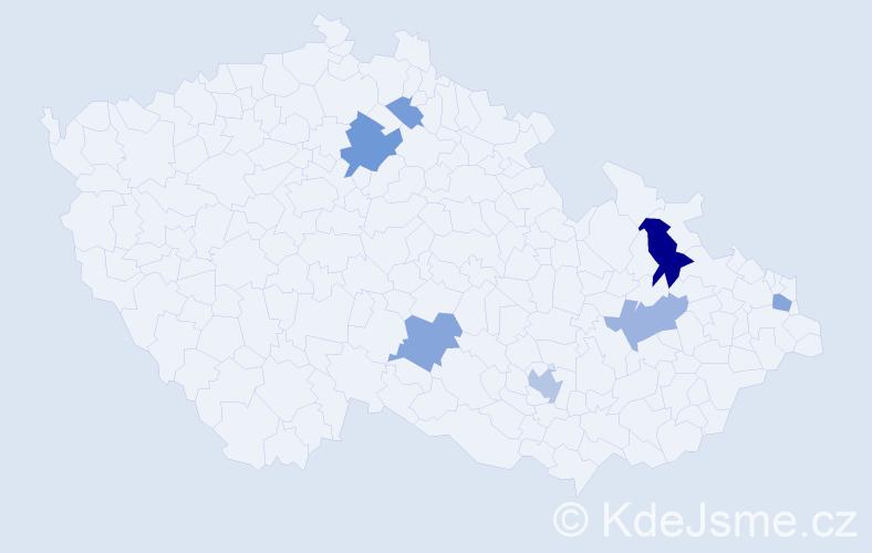 Příjmení: 'Lengsfeld', počet výskytů 17 v celé ČR