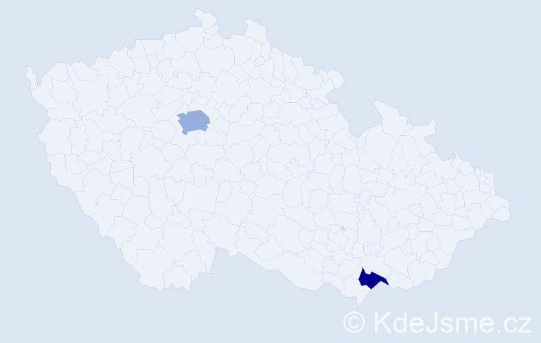 Příjmení: 'Eisele', počet výskytů 3 v celé ČR