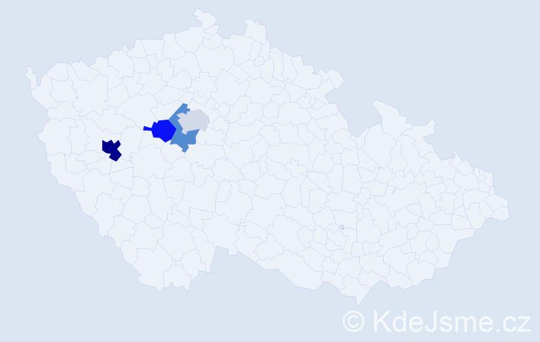 Příjmení: 'Idrisbeshirová', počet výskytů 6 v celé ČR