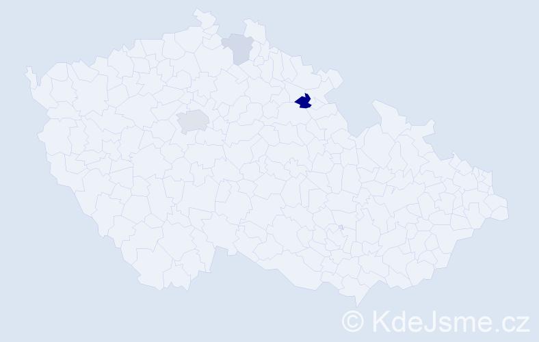 Příjmení: 'Hochsteigerová', počet výskytů 8 v celé ČR