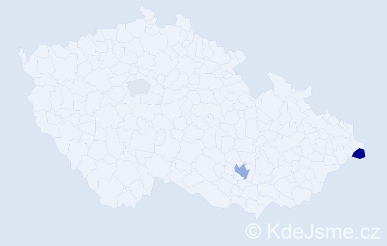 Příjmení: 'Laceková', počet výskytů 4 v celé ČR