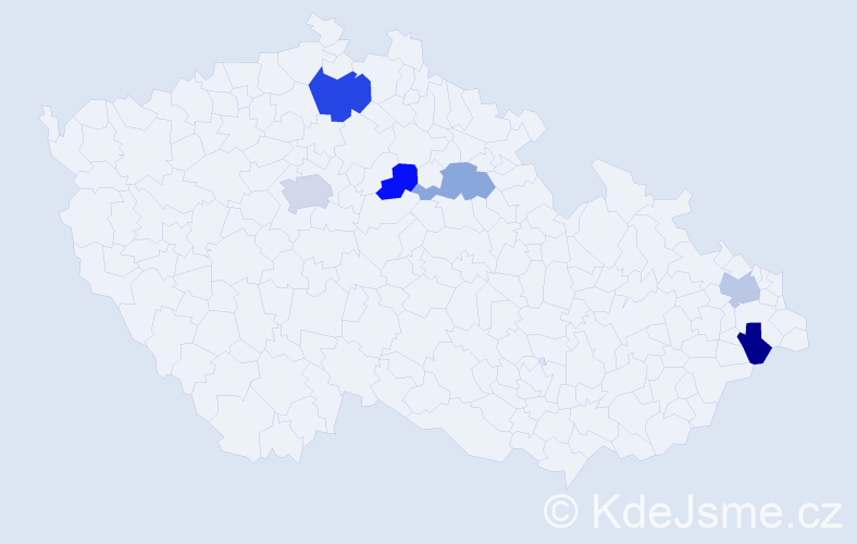 Příjmení: 'Copko', počet výskytů 8 v celé ČR