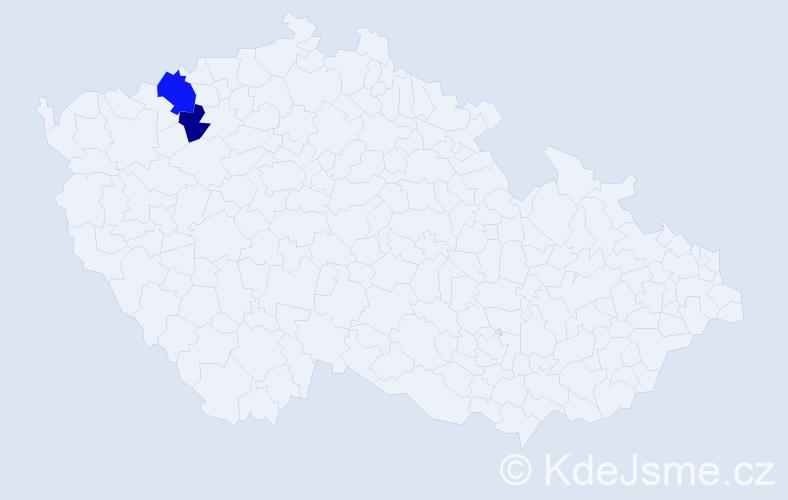 Příjmení: 'Kalauz', počet výskytů 6 v celé ČR