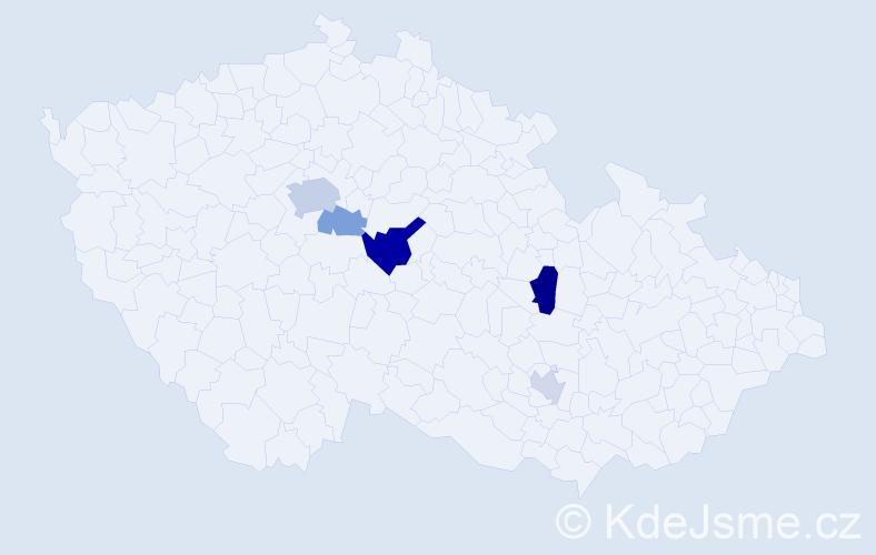 Příjmení: 'Hehlová', počet výskytů 11 v celé ČR