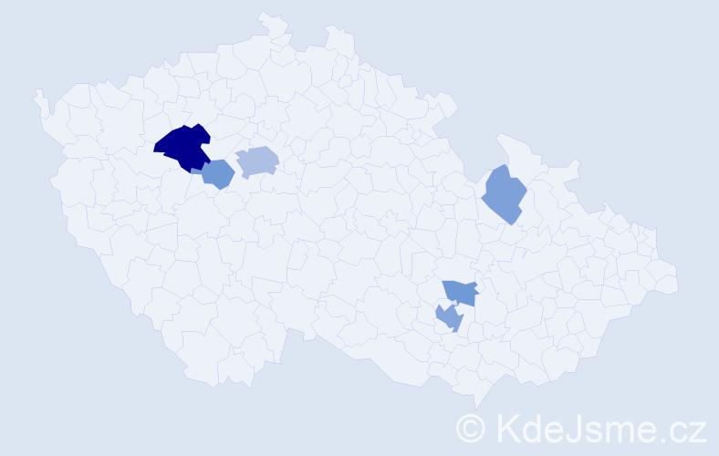 Příjmení: 'Ecková', počet výskytů 14 v celé ČR