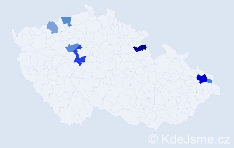 Příjmení: 'Čigášová', počet výskytů 20 v celé ČR