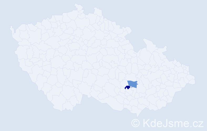 Příjmení: 'Fefuša', počet výskytů 6 v celé ČR