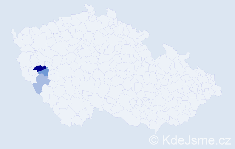 Příjmení: 'Grűnthalová', počet výskytů 5 v celé ČR