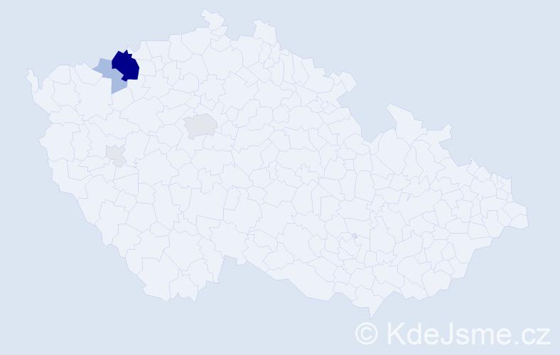 Příjmení: 'Hadi', počet výskytů 30 v celé ČR