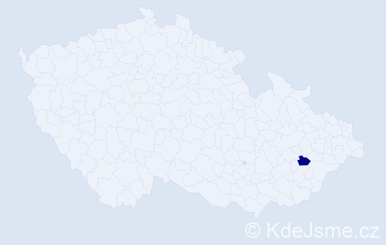 """Příjmení: '""""Crlíková Janušová""""', počet výskytů 1 v celé ČR"""