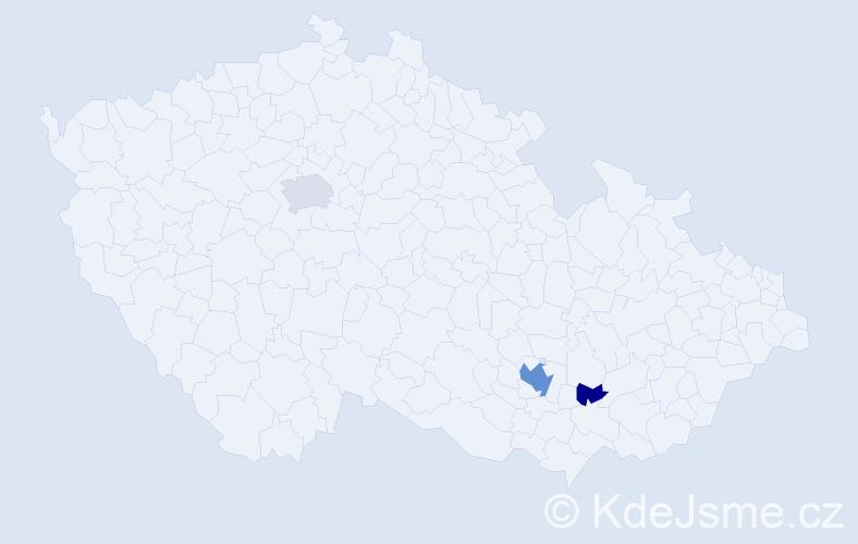 Příjmení: 'Lamserová', počet výskytů 9 v celé ČR