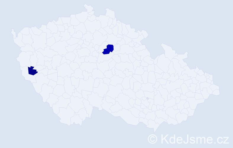 Příjmení: 'Baezová', počet výskytů 3 v celé ČR