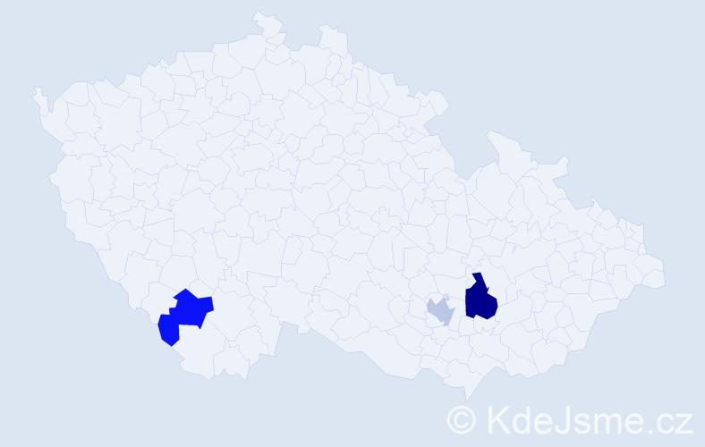 Příjmení: 'Karbáčová', počet výskytů 8 v celé ČR