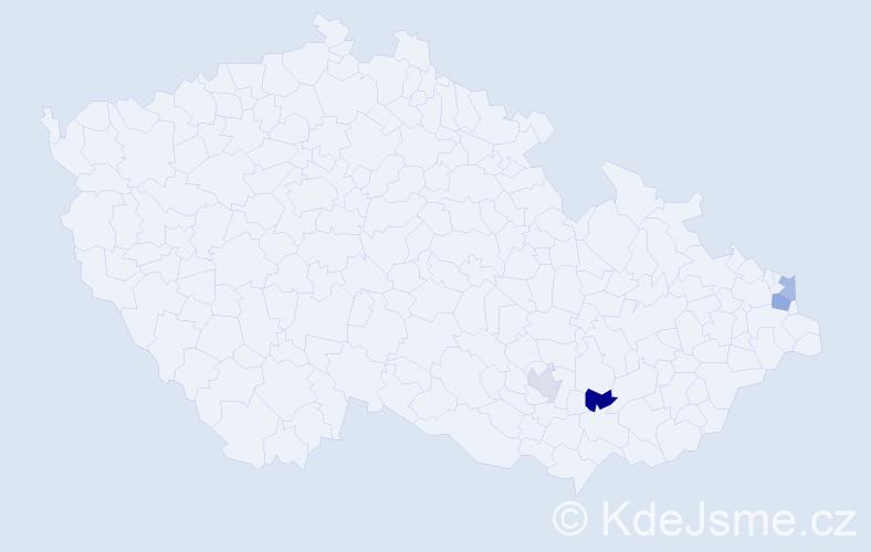 Příjmení: 'Čánek', počet výskytů 10 v celé ČR