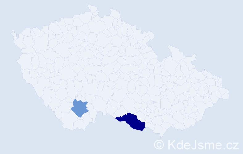 Příjmení: 'Heath', počet výskytů 3 v celé ČR