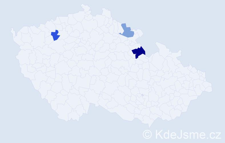 Příjmení: 'Krassek', počet výskytů 4 v celé ČR