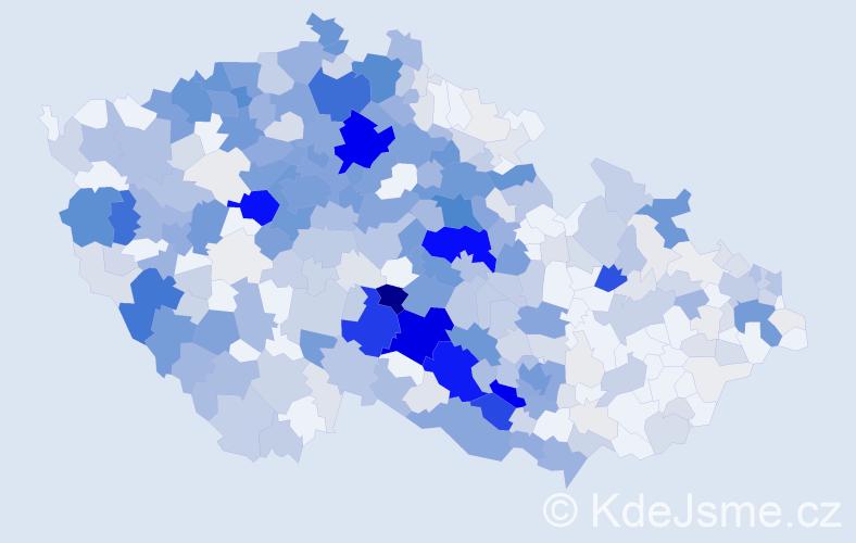 Příjmení: 'Jonáš', počet výskytů 1860 v celé ČR