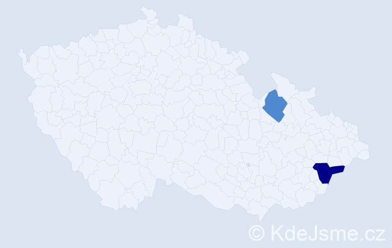 Příjmení: 'Ezechyl', počet výskytů 3 v celé ČR