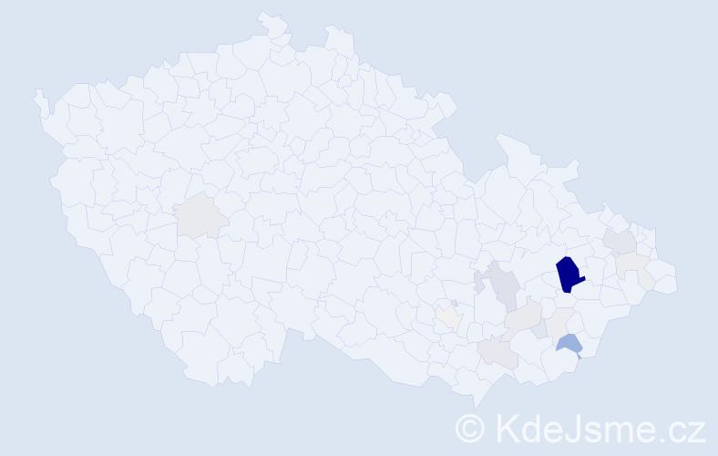 Příjmení: 'Cvešper', počet výskytů 49 v celé ČR
