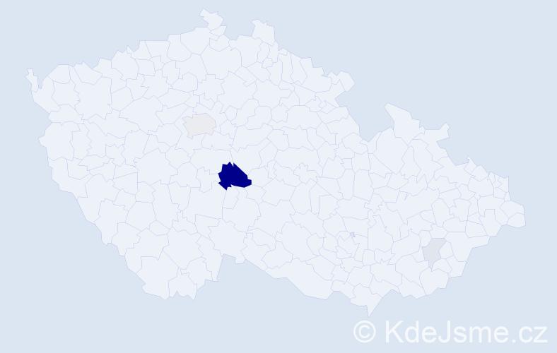 Příjmení: 'Krunert', počet výskytů 13 v celé ČR
