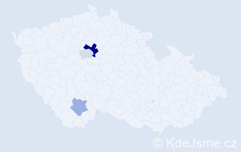 Příjmení: 'Can', počet výskytů 7 v celé ČR