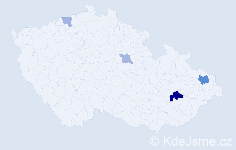 Příjmení: 'Gőrlich', počet výskytů 13 v celé ČR