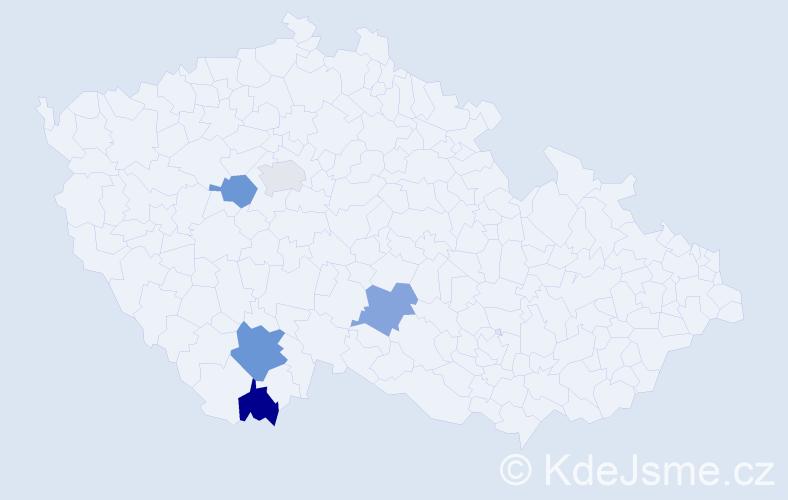 Příjmení: 'Kališka', počet výskytů 6 v celé ČR