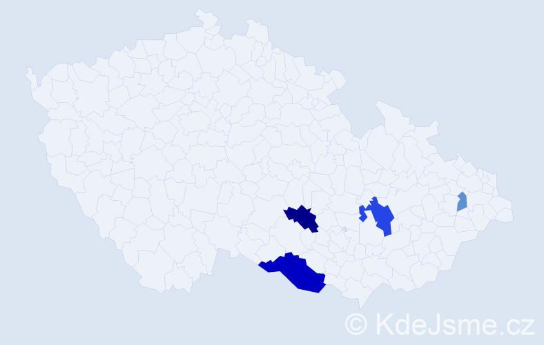 Příjmení: 'Fellinger', počet výskytů 10 v celé ČR