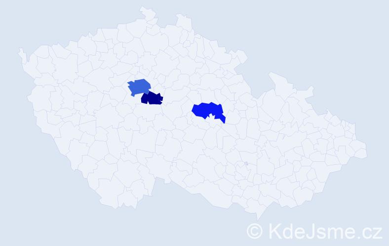 Příjmení: 'Espinoza', počet výskytů 9 v celé ČR