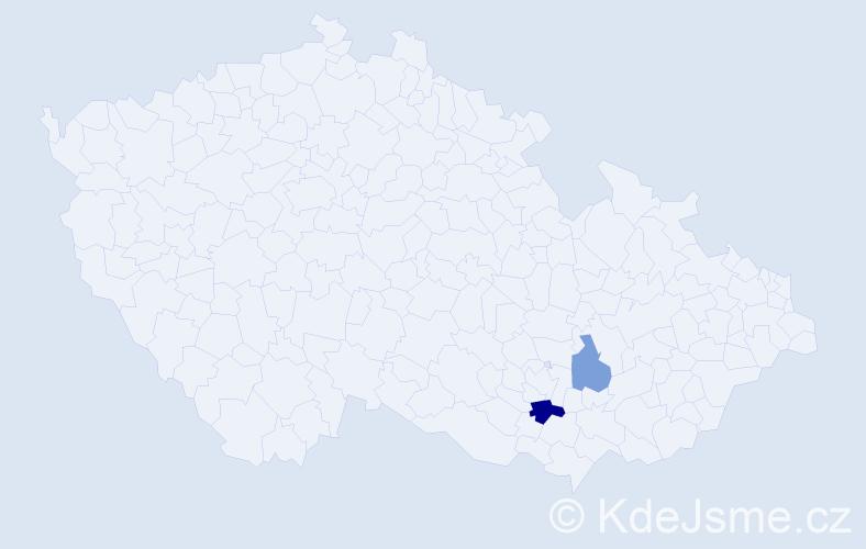 Příjmení: 'Chumela', počet výskytů 3 v celé ČR